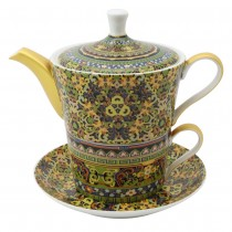 Golden Moroccan 4 Piece Tea for One