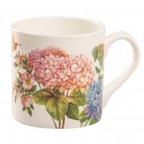 Hydrangea Everlasting Bone China Coffee Mugs, Set of 4