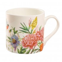 Floral Bloom  Bone China Coffee Mugs, Set of 4