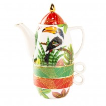 Tropical Toucan Tea for Two 4 Piece Set