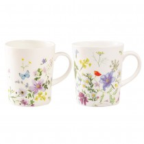 2 asst Summer Meadow Corn Mugs, Set of 4