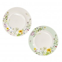 Summer Meadow Bone China Dessert Plates, Set of 4