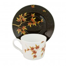 Golden Autumn Coffee Cup Sacuer, Set of 4