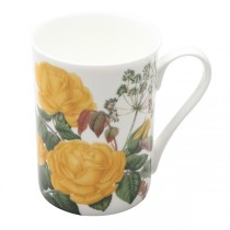 2 Assort Yellow Rose Mugs, Set of 4