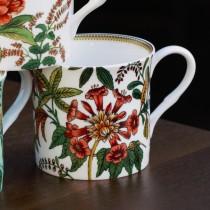 Bone China Day Lily Mugs, Set of 4
