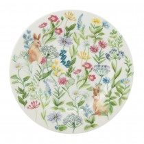 Forest Bunny Bone China Deseert Plates, Set of 4