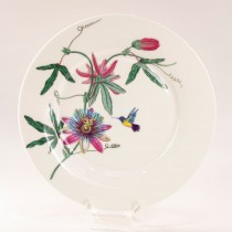 Hummingbird Garden Bone China Dessert Plates, Set of 4