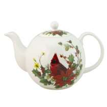 Cardinal Poinsettia Bone China Teapot