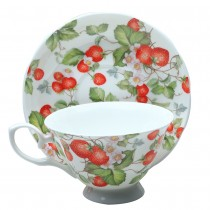 Strawberry Vine Tea Cup and Saucer,Set of 4
