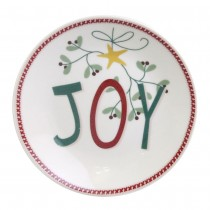 Winter Joy and Pine Wreath Dessert Plates, Set of 4