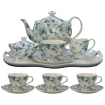 Blue Toile 11 Piece Tea Set