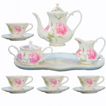 Dahlia 11 Piece Tea Set