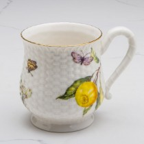 Crafted Gold Bee Lemon Mugs, S/4