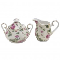 Rose Chintz Bouque Sugar Creamer Set