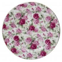 Summer Rose Chintz Dessert Plates, Set of 4