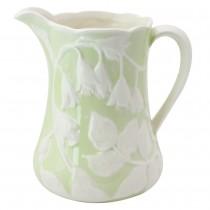 Green Craft Floral Pitcher