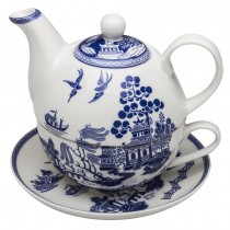 Blue Willow 4 Piece Tea for One Set